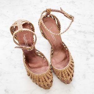 Snake print heels